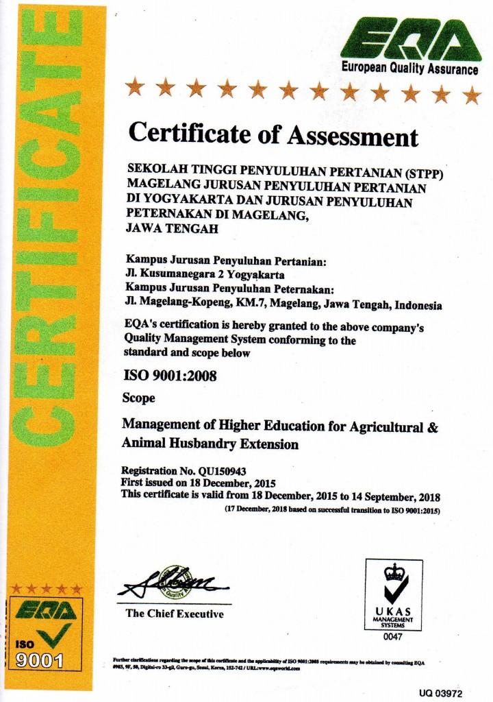 sertifikat iso2015